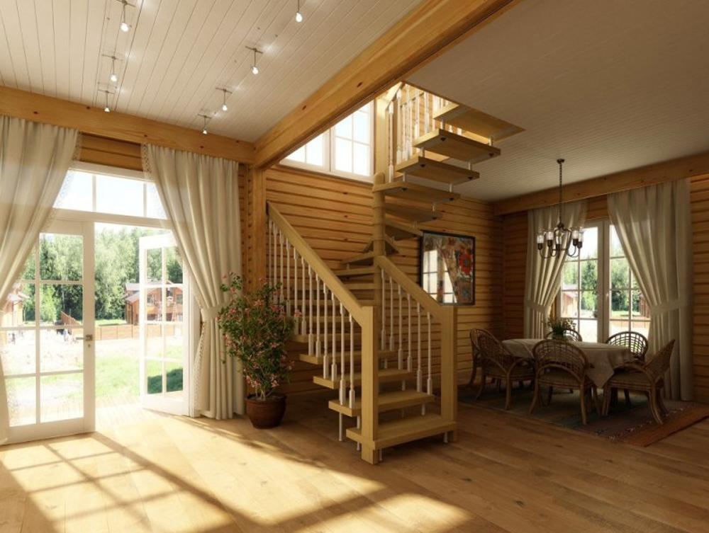 Загородный дом дизайн интерьера фото эконом класса