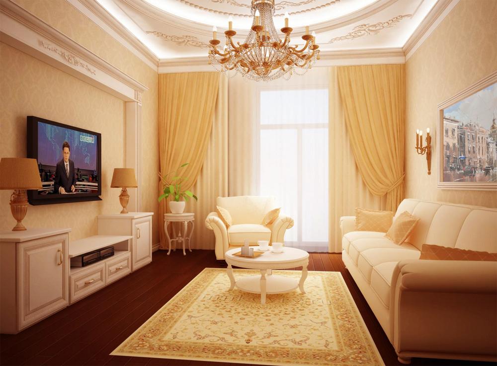 Дизайн классического зала