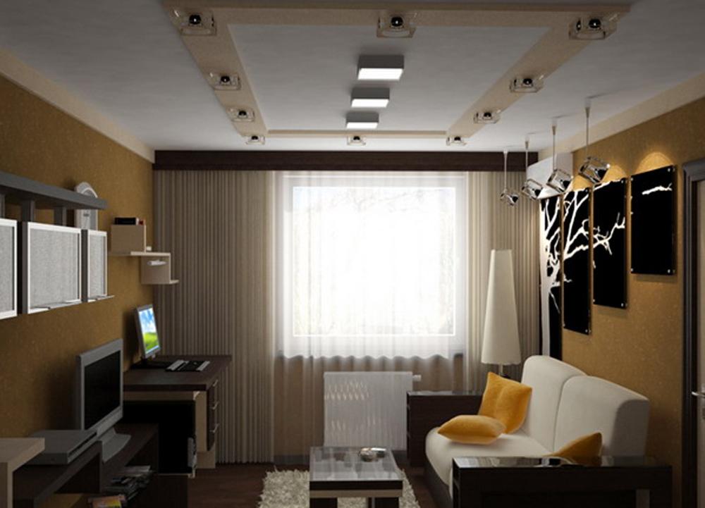 Фото маленькой гостиной комнаты