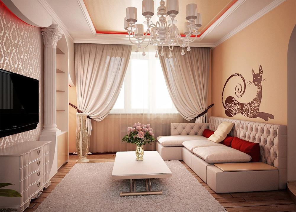 Интерьер гостиной в небольшой квартире фото