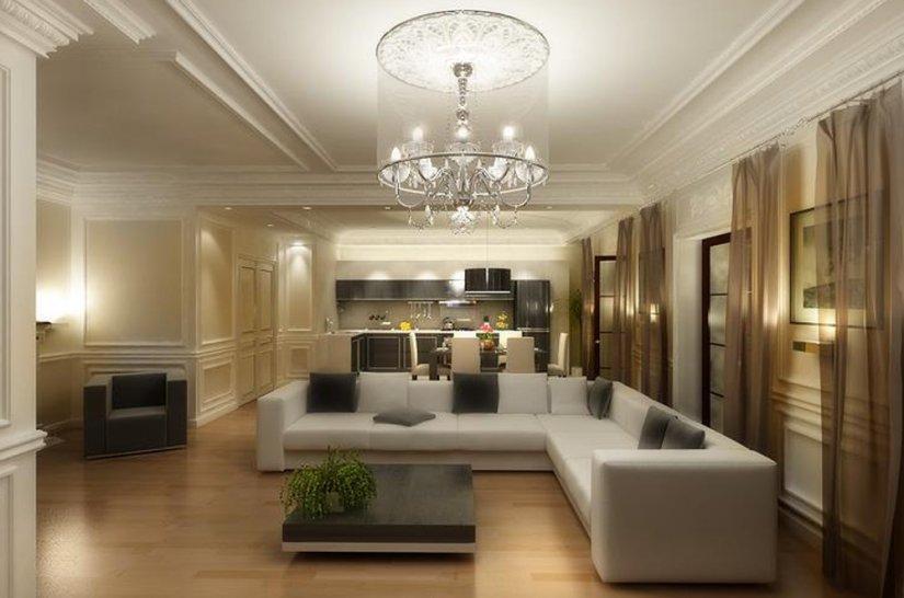дизайн гостиной частного дома фото