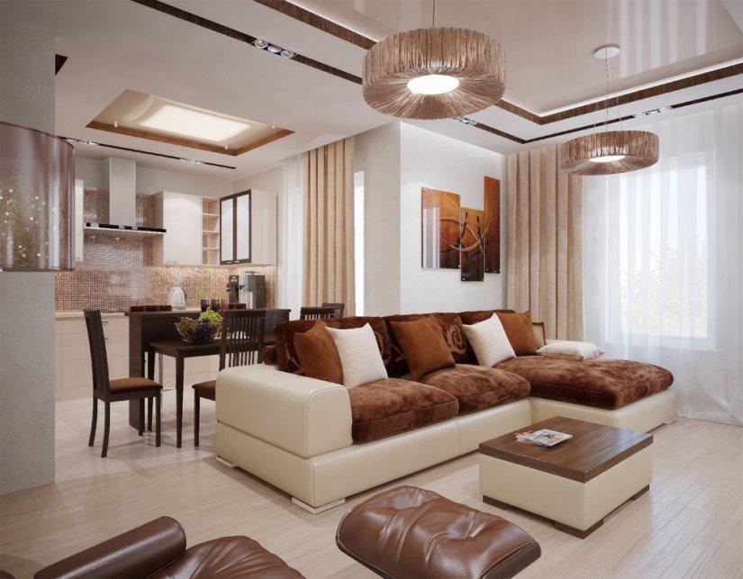 красивый дизайн в гостиной