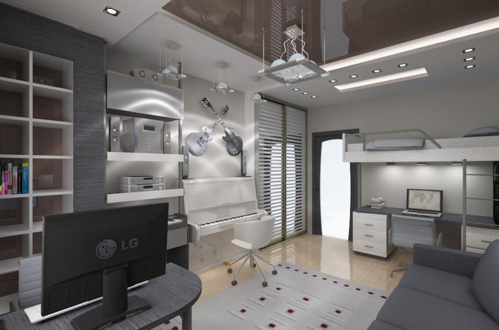 Дизайн комнаты подростка современном стиле фото