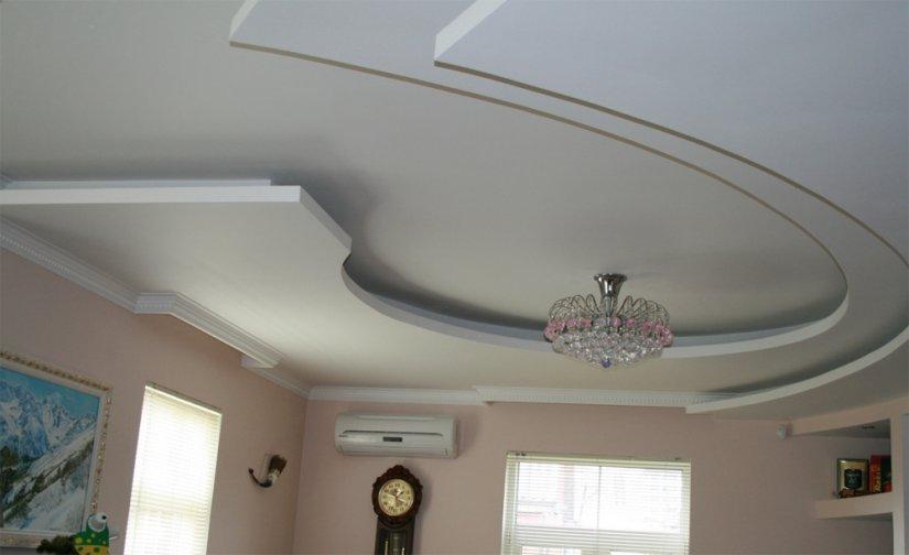 Фото потолок из гипсокартона своими руками