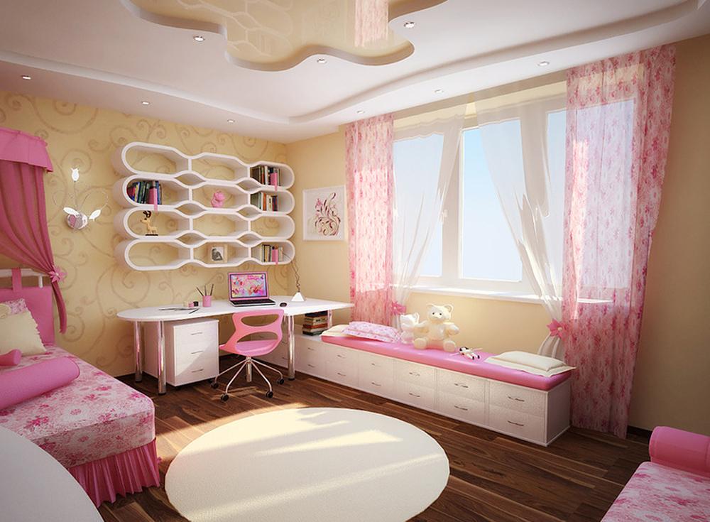 Интерьер в детской комнате для девочек фото