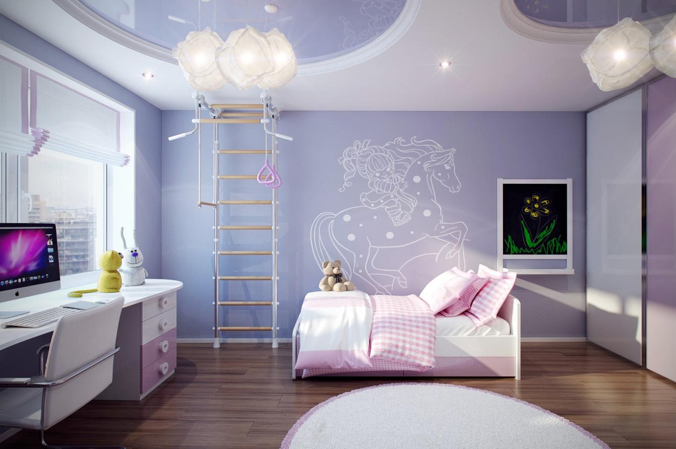 Цвет интерьера для детской комнаты