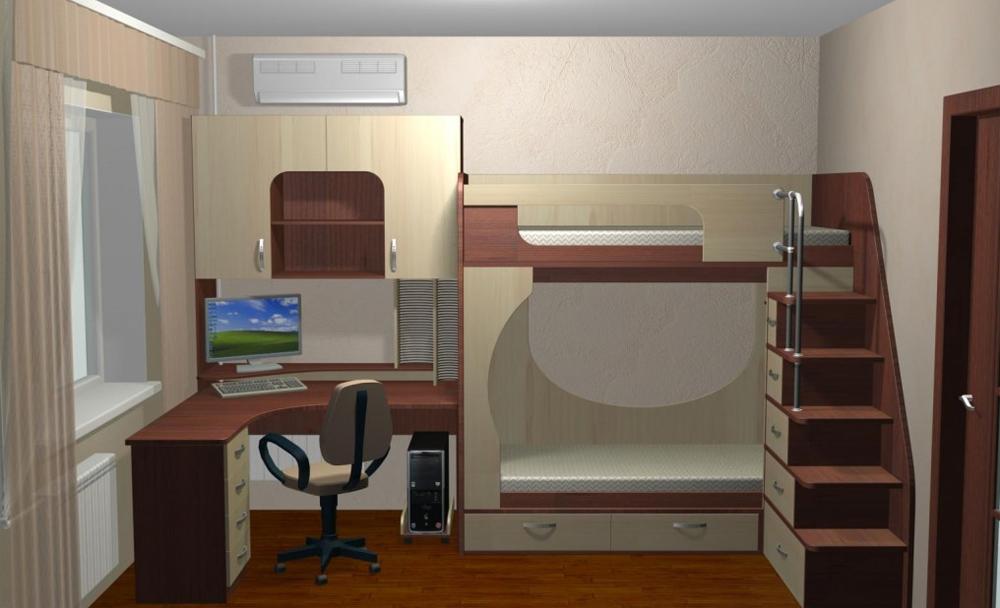 Дизайн детской комнаты 12 кв. м