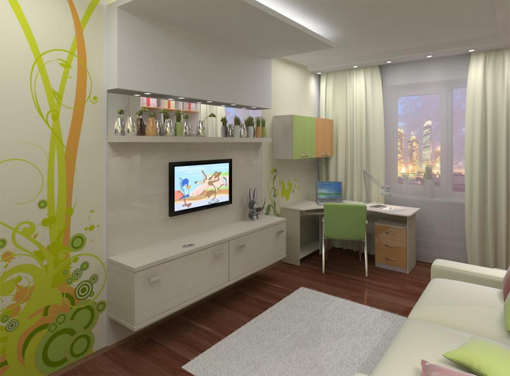 Дизайн маленькой детской комнаты для