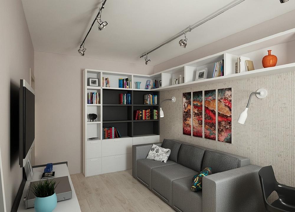 Интерьер комнаты 14 кв.м фото