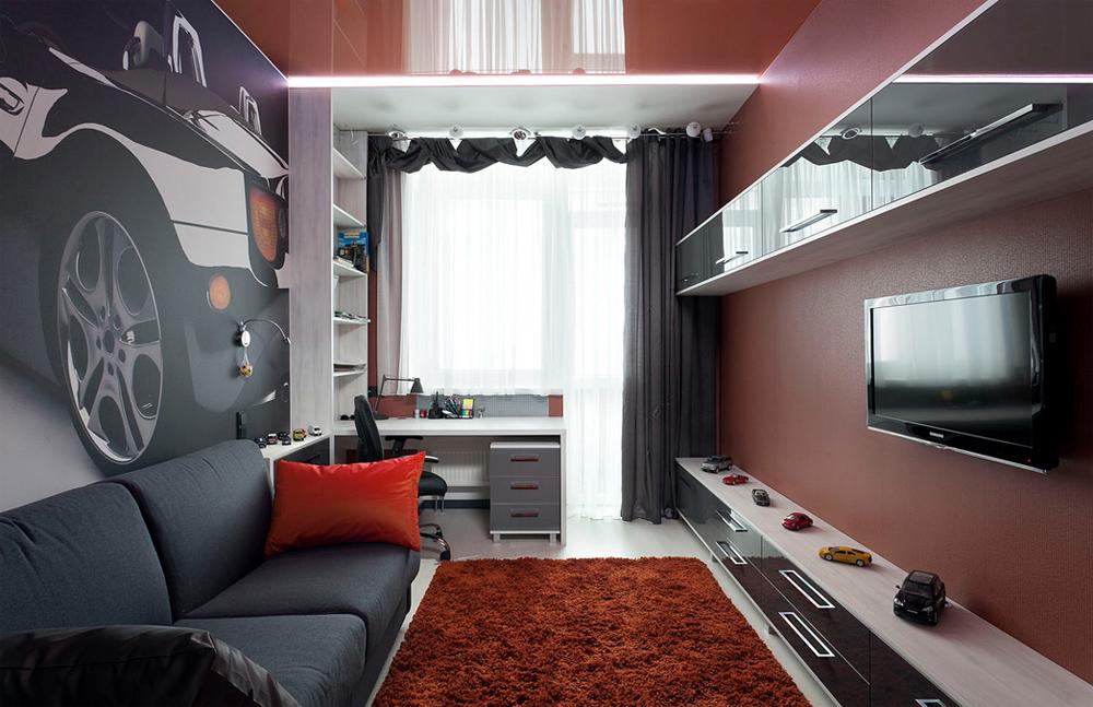 Дизайн комнаты для мальчика-подростка 12 кв.м фото