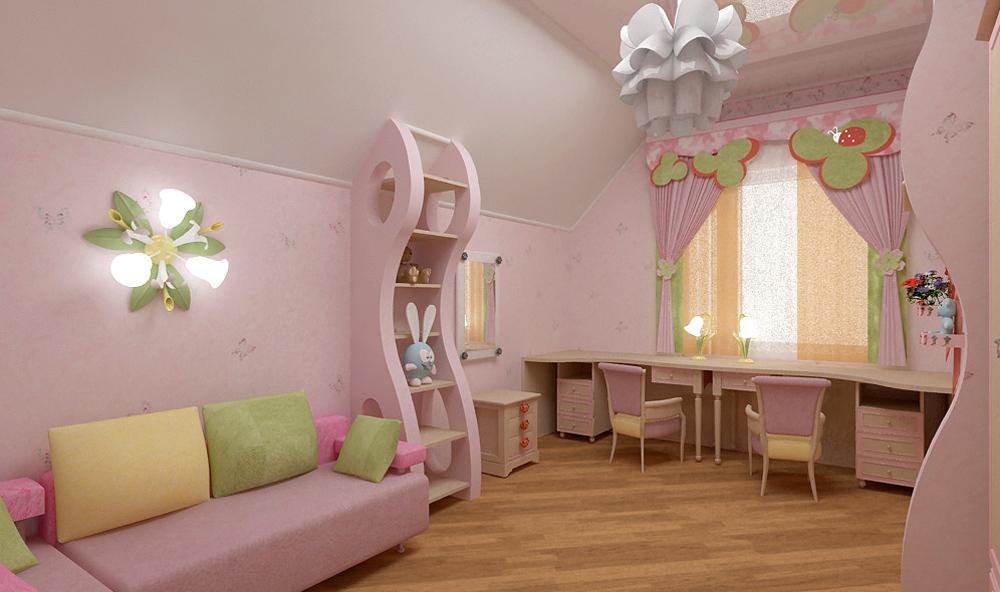 Дизайн для комнаты 2 девочек