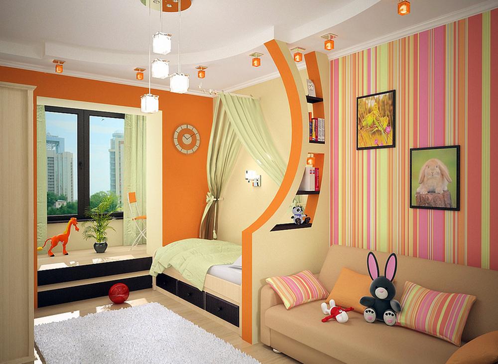 Детская комната дизайн фото для двух девочек