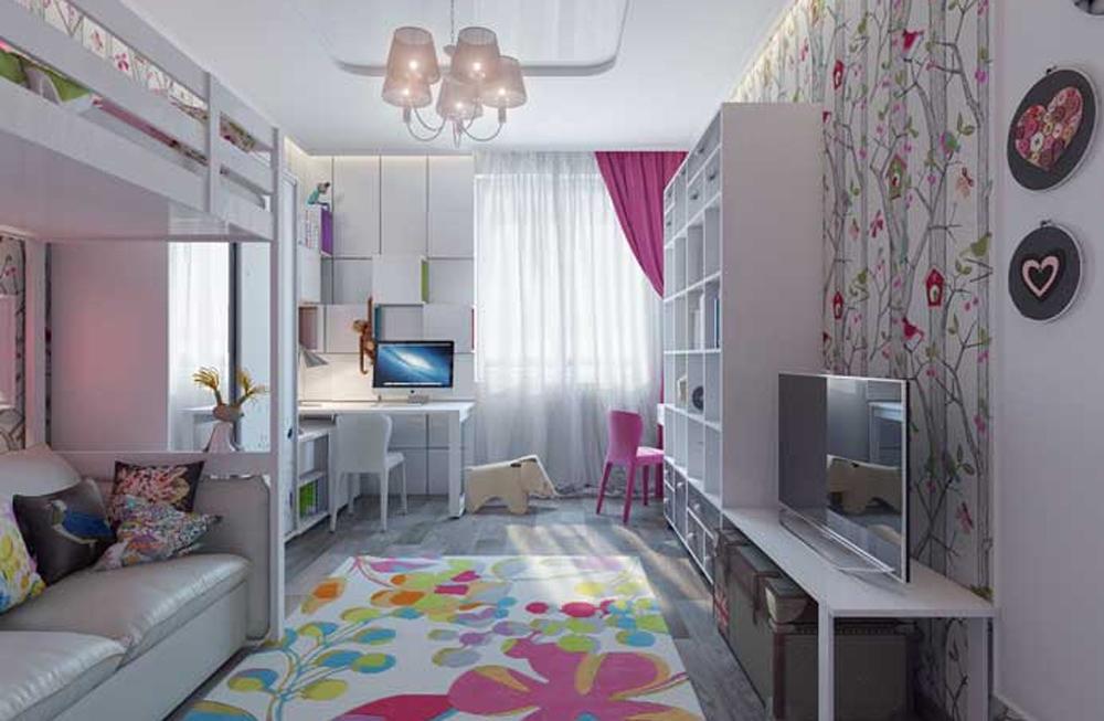 Дизайн детской с двумя детьми