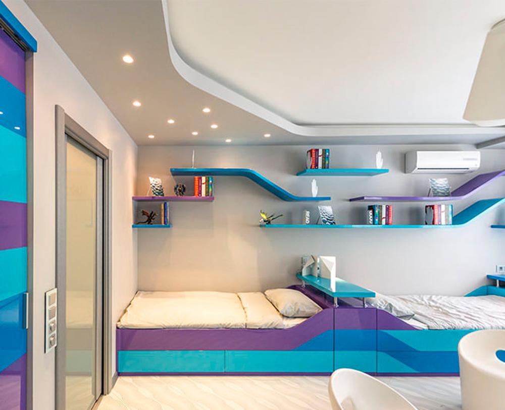 Дизайн спальни для двух подростков