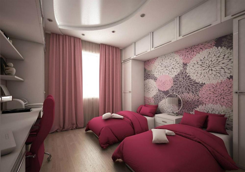 Дизайн детской комнаты 18 кв м для двух девочек