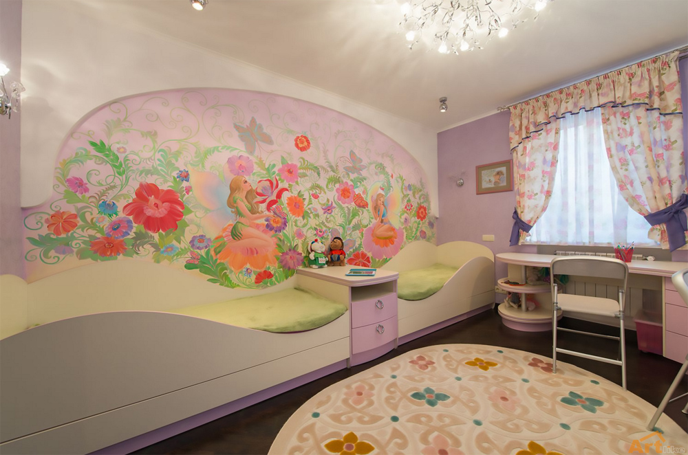 Детские комнаты для двух девочек дизайн фото