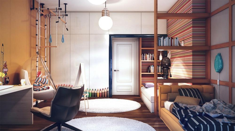 Детская для двух мальчиков в квартире дизайн