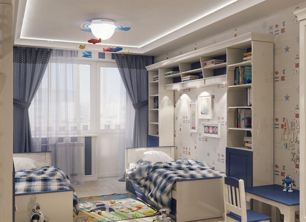 Интерьер для детской комнаты мальчиков фото