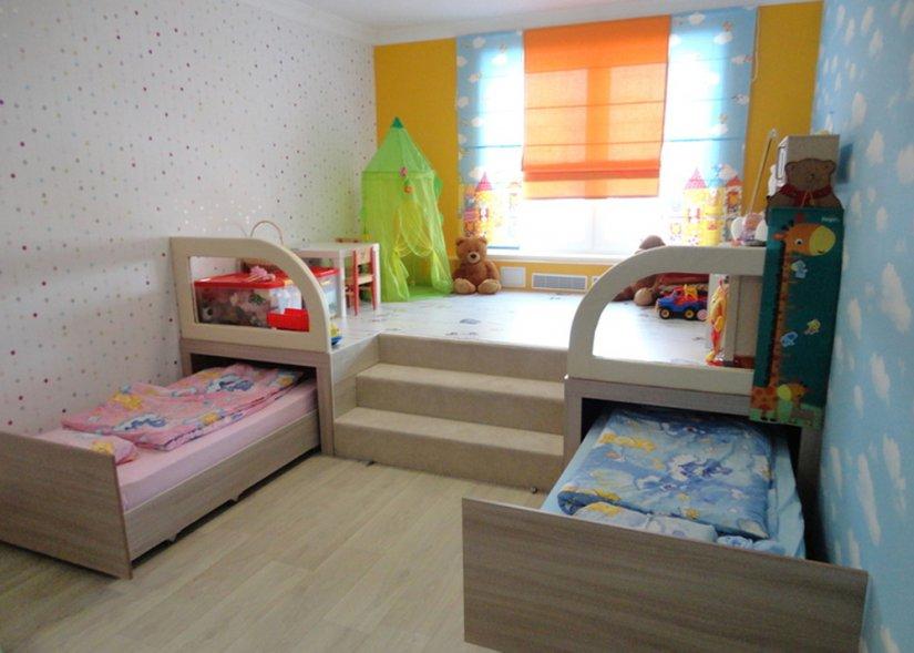 Детская комната 12 кв. м для двух мальчика