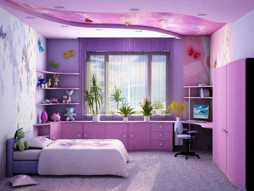 интерьер детской комнаты 12 кв. м для девочек