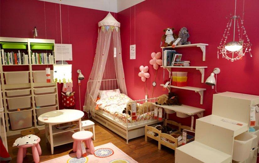 детская комната IKEA для девочки
