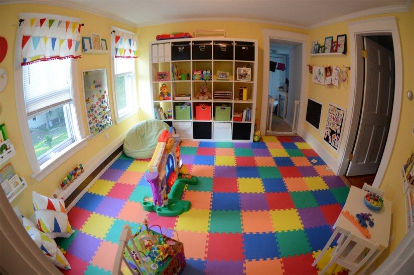Интерьер детской игровой комнаты фото