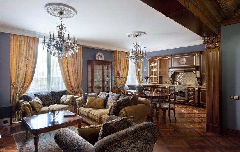 Классический стиль в интерьере квартиры фото