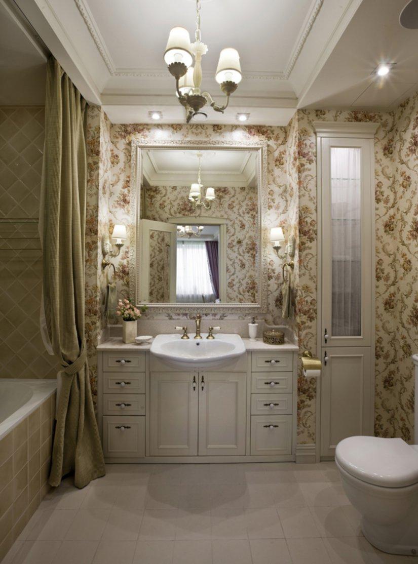 ванная в классическом стиле в квартире