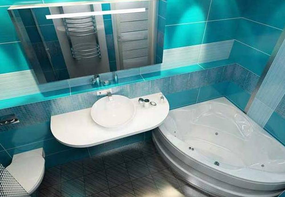 Дизайн не совмещенной ванной комнаты