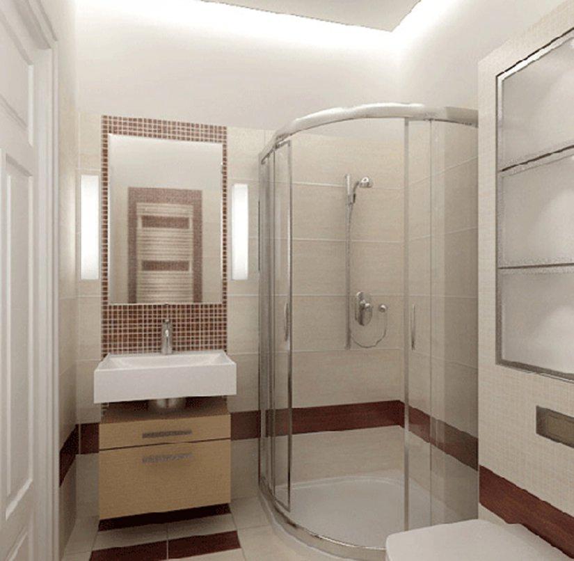 ванная в хрущевке с душевой кабинкой