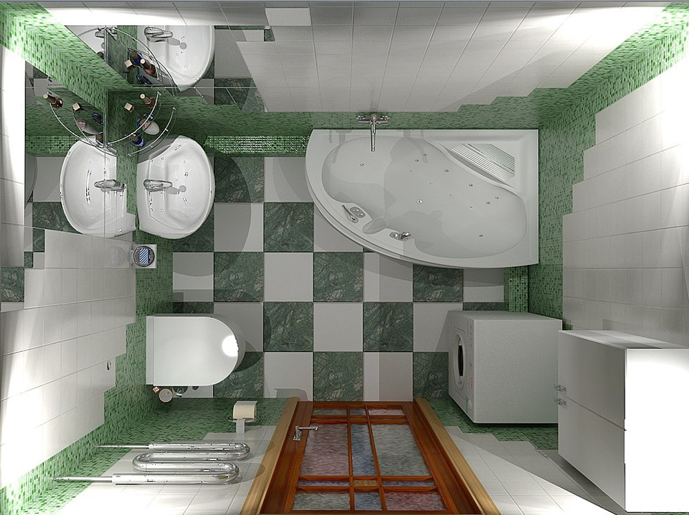 Дизайн ванной комнаты санузел совмещен