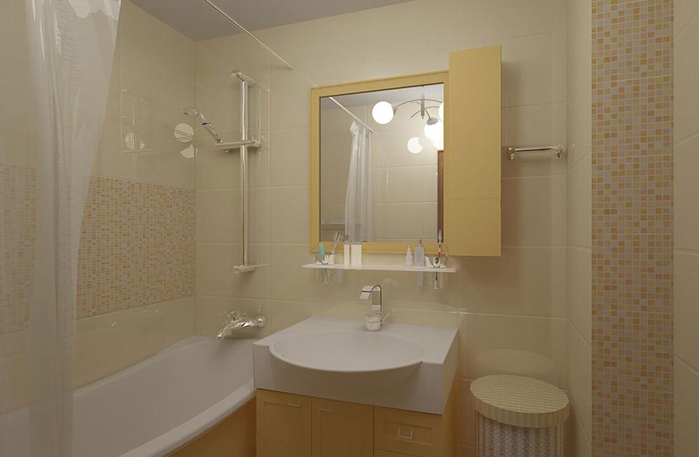 Дизайн ванной комнаты 3 квадратных метров