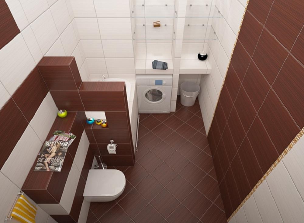 дизайн ванной комнаты фото 6 кв м с туалетом фото