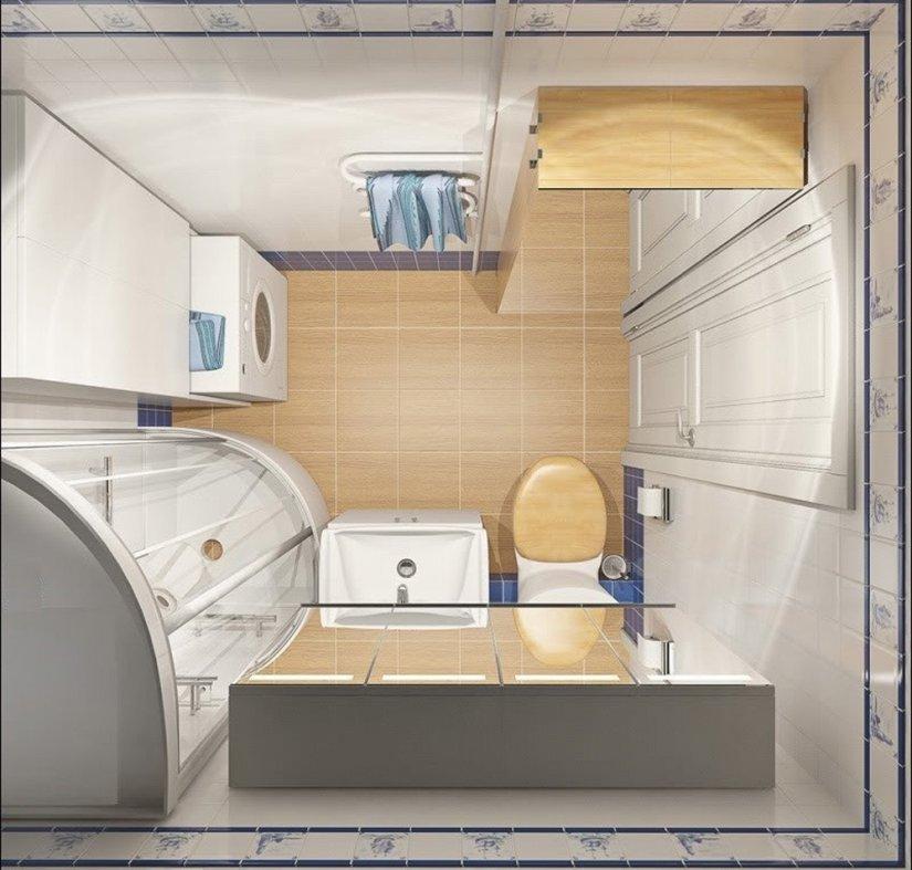 Варианты дизайна ванной комнаты 3 кв.м
