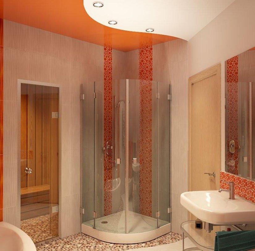яркий интерьер ванной 6 кв м