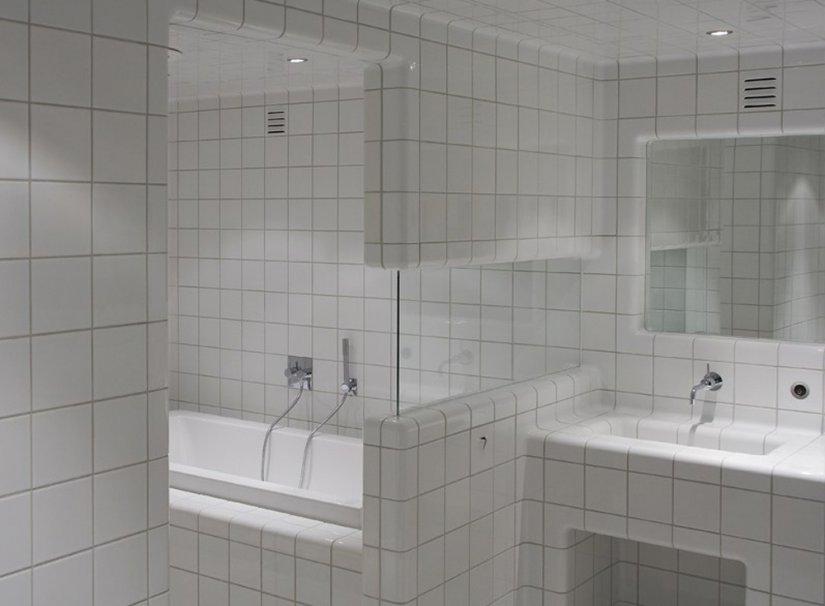белый цвет в ванной
