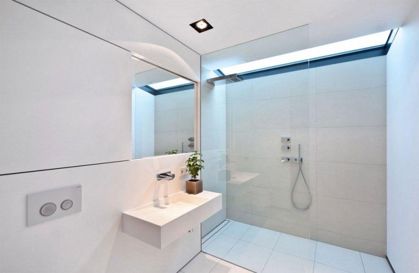 Интерьер душевой комнаты фото в современном стиле со стиральной машиной