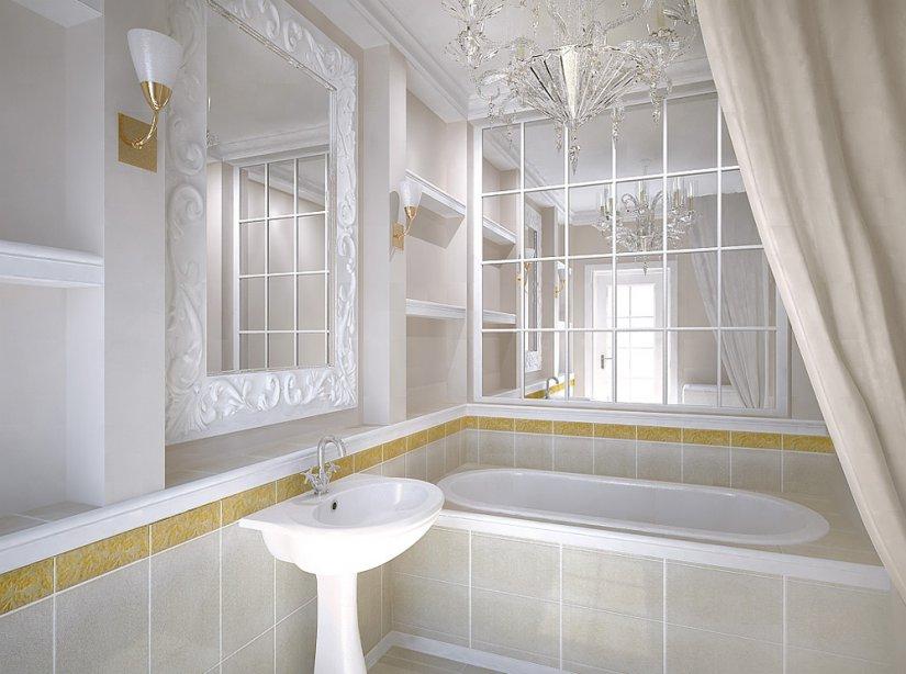 один из оттенков белого в ванной