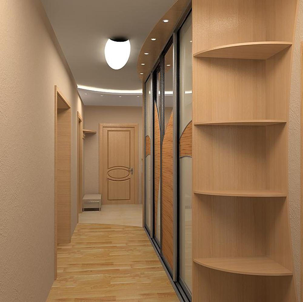 Как сделать потолок в узкой прихожей