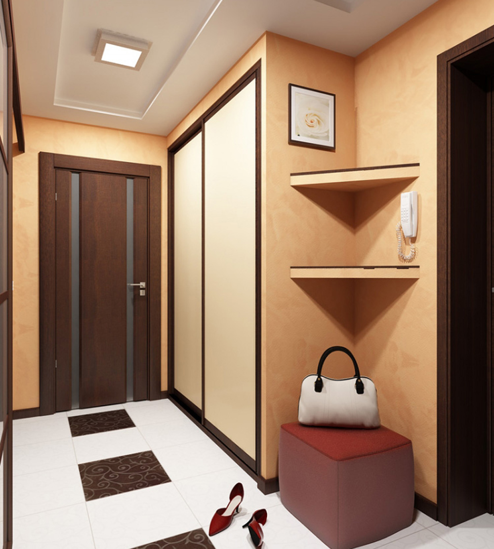 Маленькая узкая прихожая дизайн в квартире