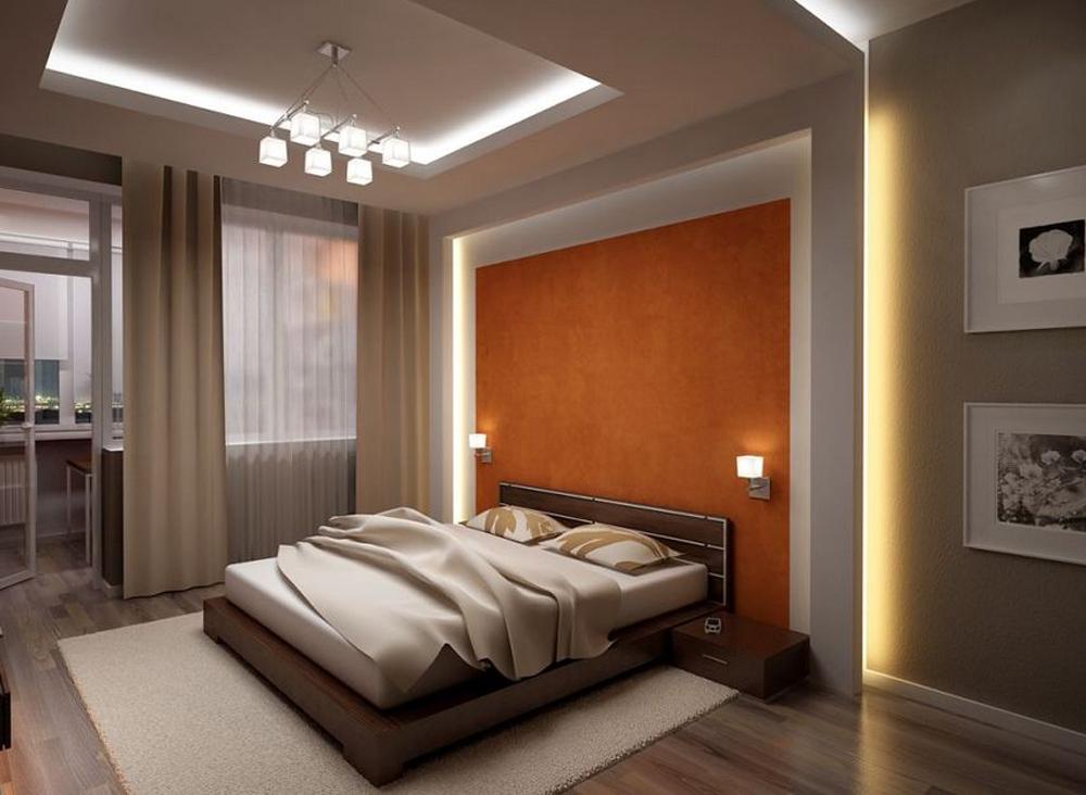 Дизайн потолков гипсокартон спальни