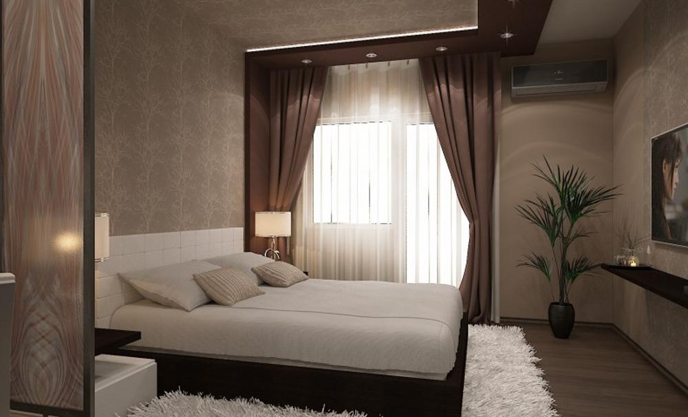 Дизайн маленькой комнаты для семейной пары