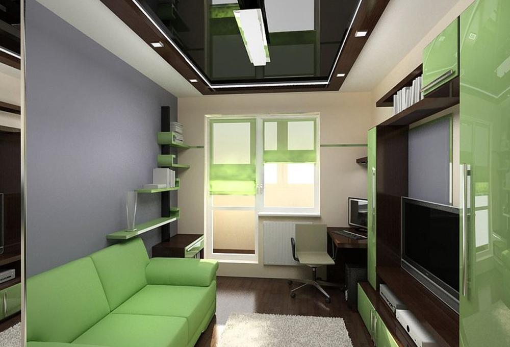 """Дизайн комнаты узкой и длинной """" улетный дизайн."""