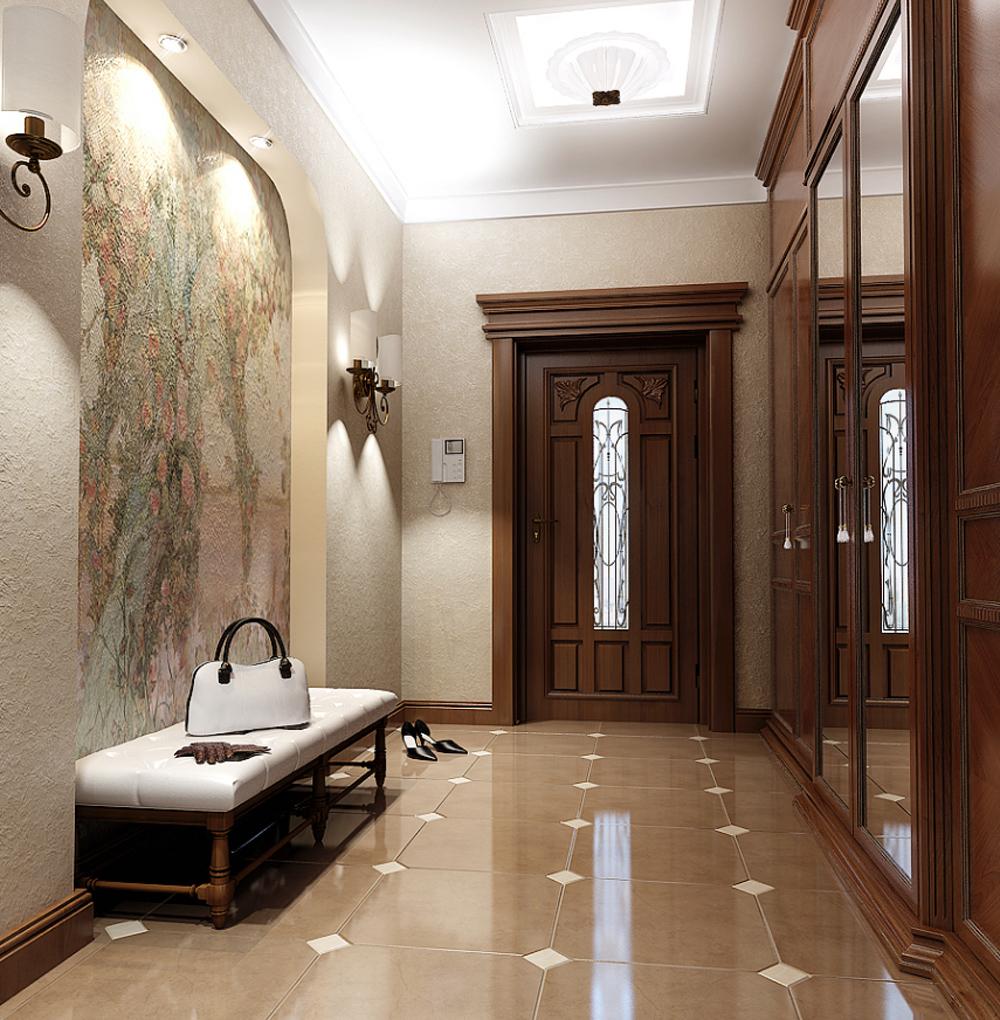 Фото дизайна прихожей и коридора в доме