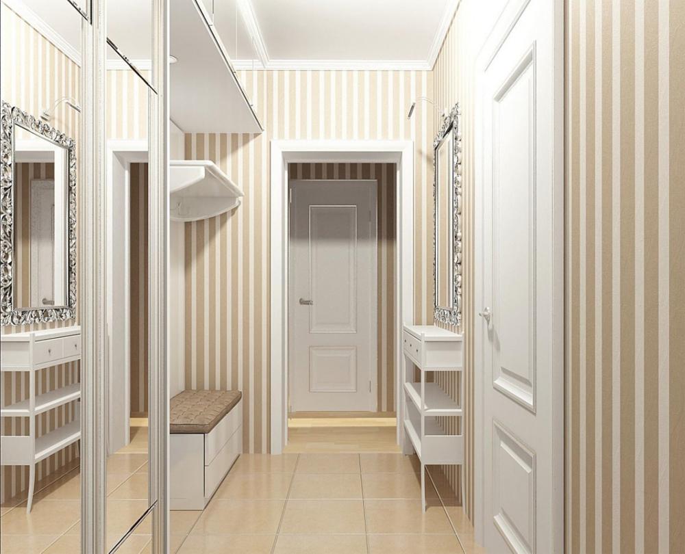 Дизайн маленького коридора в квартире в панельном доме