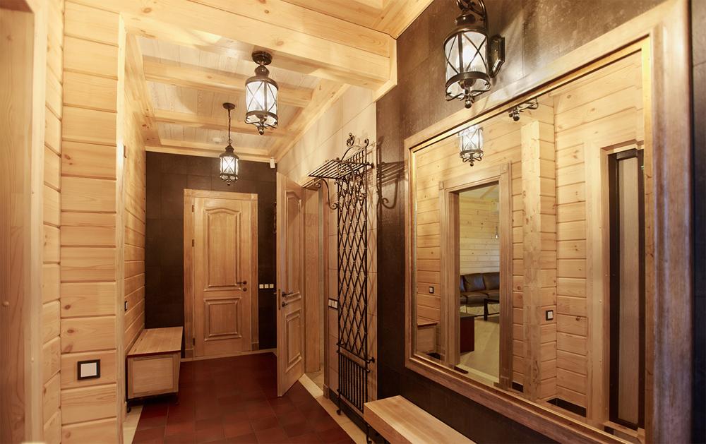 Маленькая прихожая в деревянном доме дизайн
