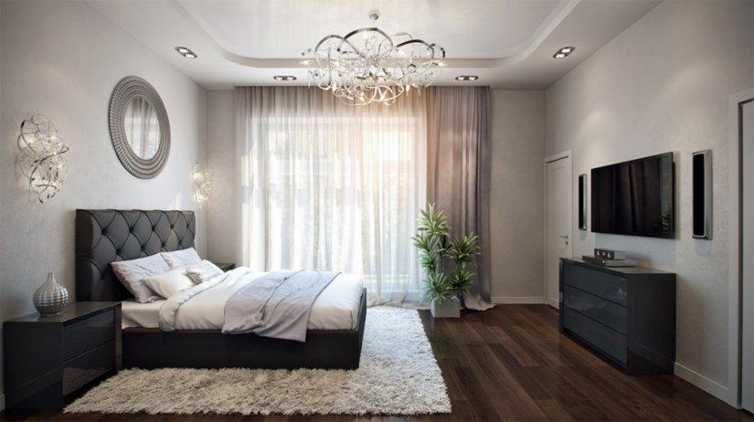 красиво декорированная спальня в доме