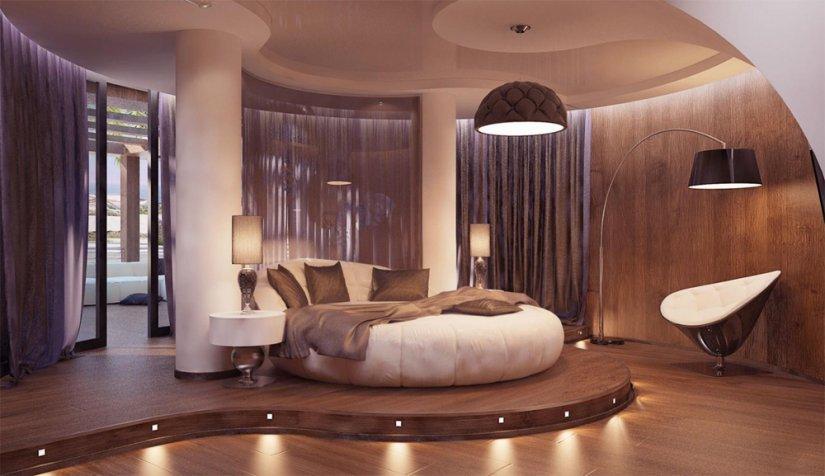 приятная подсветка спальни