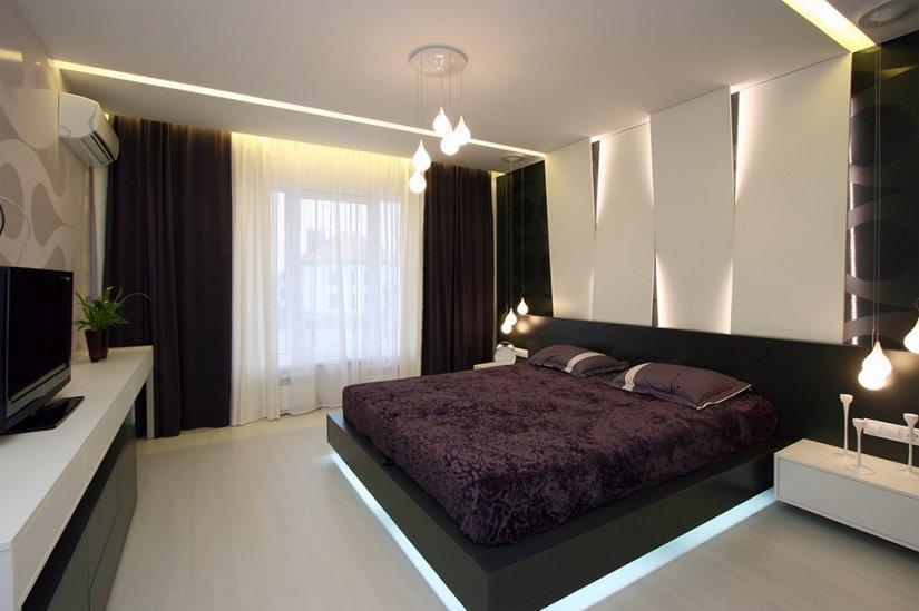 красивая спальня в частном доме