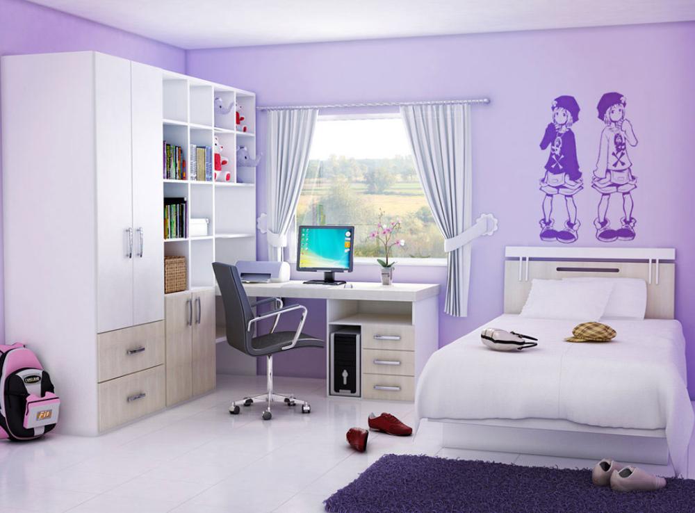Интерьер спальни девочки подростка